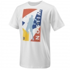 Wilson Boy's Geo Play Tech Tee (White) - New Style Tennis Apparel