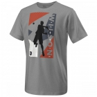 Wilson Boy's Geo Play Tech Tee (Heather Grey) - New Style Tennis Apparel