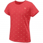Wilson Girls Cause A Racket Tech Tee (Cayenne) - New Style Tennis Apparel