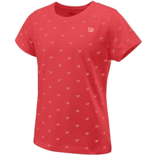 Wilson Girls Cause A Racket Tech Tee (Cayenne)