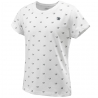 Wilson Girls Cause A Racket Tech Tee (White) - New Style Tennis Apparel