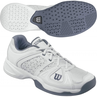 Wilson Mens Stance Elite Tennis Shoes (White/ Flint Grey)