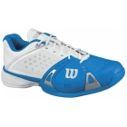 Wilson Mens Rush Pro Shoes (Blu/ Wht/ Sil) - Wilson Tennis Shoes