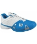 Wilson Mens Rush Pro Shoes (Blu/ Wht/ Sil) - Wilson Rush Tennis Shoes