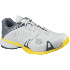 Wilson Mens Rush Pro Shoes (Wht/ Gry/ Gld) - Wilson Rush Tennis Shoes
