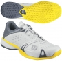 Wilson Mens Rush Pro Shoes (Wht/ Gry/ Gld)