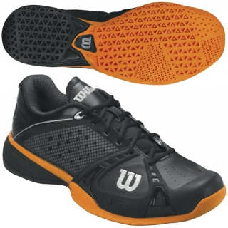 Wilson Mens Rush Pro Tennis Shoes (Black/ Orange)