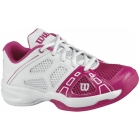 Wilson Rush Pro Junior Shoes (Pnk/ Wht) - Wilson Tennis Shoes