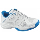 Wilson Rush Pro Junior Shoes (Wht/ Blu) - Wilson Junior Tennis Shoes