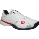 Wilson Mens Rush Pro Hardcourt Tennis Shoes (White/ Red / Coal) - Wilson Rush Tennis Shoes