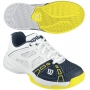 Wilson Rush Pro Junior Tennis Shoes (White/ Navy/ Yellow)