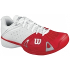 Wilson Mens Rush Pro Hardcourt Tennis Shoes (White/ Red/ White) - Wilson Tennis Shoes