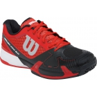 Wilson Mens Rush Pro 2.0 Hardcourt Tennis Shoes (Red/Black/White) - Wilson Tennis Shoes