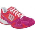 Wilson Womens Rush Pro 2.0 Hardcourt Tennis Shoes (Neon Red/Fiesta Pink/White) - Wilson