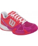 Wilson Womens Rush Pro 2.0 Hardcourt Tennis Shoes (Neon Red/Fiesta Pink/White) - Wilson Rush Tennis Shoes