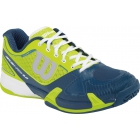 Wilson Mens Rush Pro 2.0 Hardcourt Tennis Shoes (Solar Lime/Pacific Teal/White) - Men's Tennis Shoes