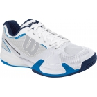 Wilson Mens Rush Pro 2.0 Hardcourt Tennis Shoes (White/Ice Gray/Neptune Blue) - Wilson Tennis Shoes