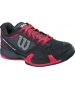 Wilson Womens Rush Pro 2.0 Hardcourt Tennis Shoes (Coal/Black/Neon Red) - Wilson Rush Tennis Shoes