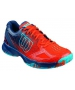 Wilson Men's Kaos Comp Tennis Shoes (Red/ Navy/ Aqua) - Wilson Tennis Shoes