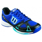 Wilson Men's Rush Evo Tennis Shoes (Blue/ Black/ Aqua) - Lightweight Tennis Shoes