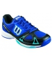 Wilson Men's Rush Evo Tennis Shoes (Blue/ Black/ Aqua) - Wilson Tennis Shoes