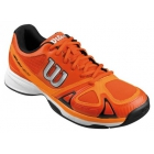 Wilson Men's Rush Evo Tennis Shoes (Orange/ Black) - Lightweight Tennis Shoes