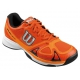Wilson Men's Rush Evo Tennis Shoes (Orange/ Black) - Wilson