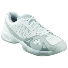 Wilson Men's Rush Open Tennis Shoes (White/ Grey) - Men's Tennis Shoes
