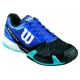 Wilson Men's Rush Pro 2.0 Tennis Shoes (Blue/ Black/ Aqua) - 6-Month Warranty Shoes