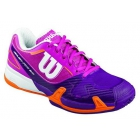 Wilson Women's Rush Pro 2.0 Tennis Shoes (Pink/ Plum/ Orange) - Types of Tennis Shoes