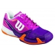 Wilson Women's Rush Pro 2.0 Tennis Shoes (Pink/ Plum/ Orange) - 6-Month Warranty Shoes