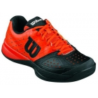 Wilson Junior Rush Glide Tennis Shoes (Black/ Red) - Wilson Tennis Shoes