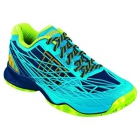 Wilson Men's Kaos Tennis Shoes (Navy/ Aqua/ Green) - Types of Tennis Shoes