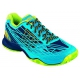 Wilson Men's Kaos Tennis Shoes (Navy/ Aqua/ Green) - Wilson