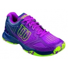 Wilson Women's Kaos Comp Tennis Shoes (Pink/ Navy/ Green) - Types of Tennis Shoes