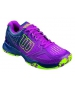 Wilson Women's Kaos Comp Tennis Shoes (Pink/ Navy/ Green) - Wilson Tennis Shoes