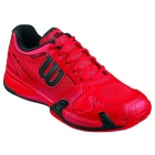 Wilson Men's Rush Pro 2.0 Tennis Shoes (Red/ Black) - Types of Tennis Shoes