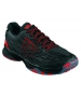 Wilson Men's Kaos Tennis Shoes (Black/ Red) - Wilson Tennis Shoes