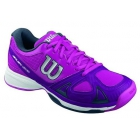 Wilson Women's Rush Evo Tennis Shoes (Pink/ Plum/ Coal) - Lightweight Tennis Shoes