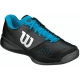 Wilson Men's Glide Comp Tennis Shoes (Black/Asphalt/Scuba) - Men's Tennis Shoes
