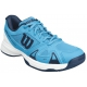 Wilson Rush Pro 2.5 Junior Tennis Shoe (Hawaiian Ocean Blue/White/Navy) - Tennis Shoes for Kids