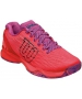 Wilson Women's Kaos Tennis Shoes (Fiery Coral/Fiery Red/Rose Violet) - Lightweight Tennis Shoes