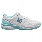 Wilson Women's Rush Composite Tennis Shoes (White/Blue Glow/Provincial Blue) - New Tennis Shoes