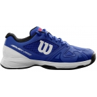 Wilson Junior Rush Pro 2.5 Tennis Shoes (Dazzling Blue/White/Neon Red) - Wilson Tennis Shoes