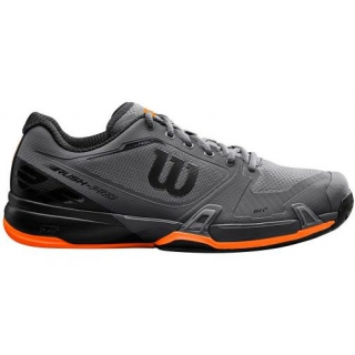 Wilson Men's Rush Pro 2.5 Tennis Shoes (Magnet/Black/Orange)