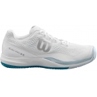 Wilson Men's Rush Pro 3.0 Tennis Shoes (White/Pearl Blue/Bluestone) - 6-Month Warranty Shoes