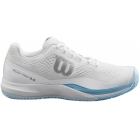 Wilson Women's Rush Pro 3.0 Tennis Shoes (White/Cashmere Blue/Illusion Blue) - 6-Month Warranty Shoes
