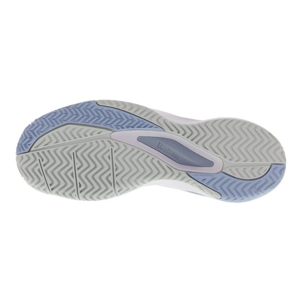Wilson Women's Rush Pro 3.0 Tennis Shoes (White/Cashmere Blue/Illusion Blue)