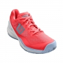 Wilson Women's Rush Pro 3.0 Tennis Shoes (Fiery Coral/White/Cashmere Blue)