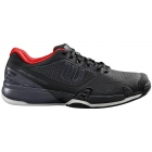 Wilson Men's Rush Pro 2.5 Tennis Shoes (Black/Ebony/Wilson Red) - Types of Tennis Shoes